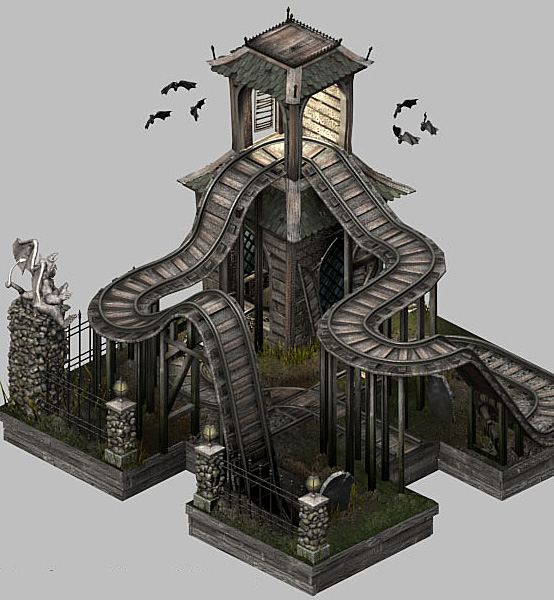 Haunted house model